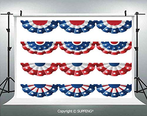 Photography Backdrops Flag Round Bunting Election Ornament Politic Union Ribbon Event Pattern 3D Backdrops for Photography Backdrop Photo Background Studio Prop]()