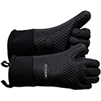 GEEKHOM Grilling Gloves, Heat Resistant Gloves BBQ...