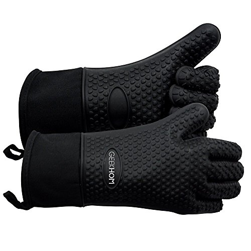 heat resistant silicon bbq gloves - 1