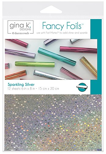 (Gina K. Designs for Therm O Web Sparkling Silver Gina K Designs Fancy Foil 6