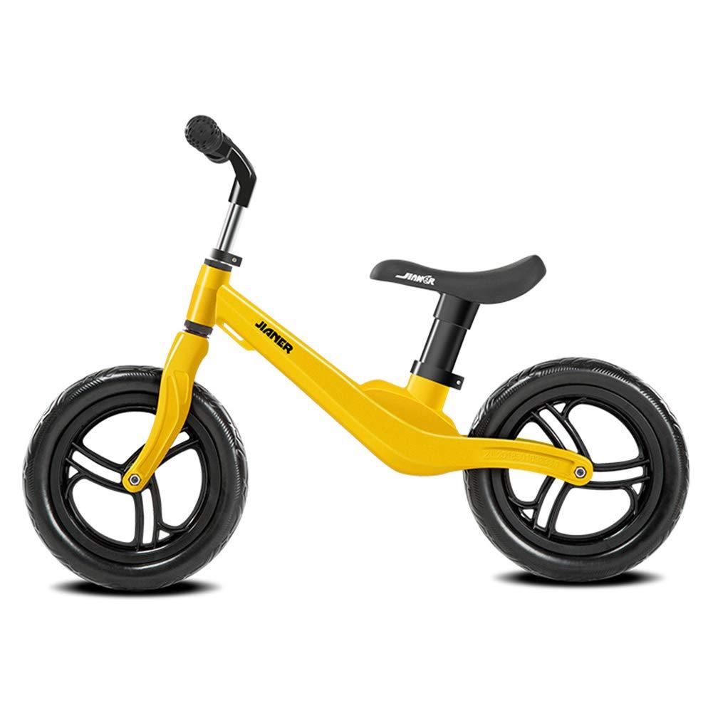 LIWORD Balance-Auto Der Kinder Ohne Pedal-Roller-Luftfahrt-Magnesium-Legierungs-Rahmen-Fahrrad,Gelb