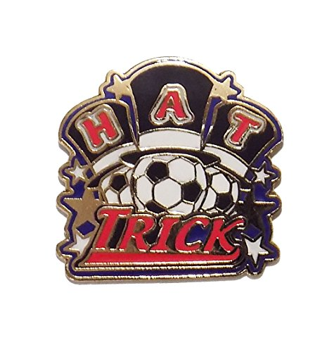 (Soccer Pin #275: Hat Trick (1 inch actual size))