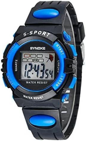 Water Resistant Digital Kids Sport Watches For 5-10 Years Old Boys Girls Black, Blue