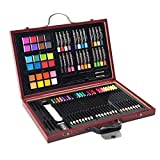Description This is our 80-Piece Deluxe Art Set which includes 24 color pencils, 24 oil pastels, 24 watercolor cakes, 2 paint brushes, 2 drawing pencils,1 pencil sharpener,1 kneaded eraser,1 sanding blocks and 1 wooden box. It is surely a great gift ...