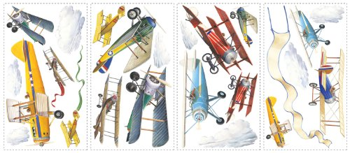 Wall Sticker Vintage Planes  Japan Import