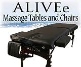 Signature II Portable Massage Table Black Dark W/Adjustable...