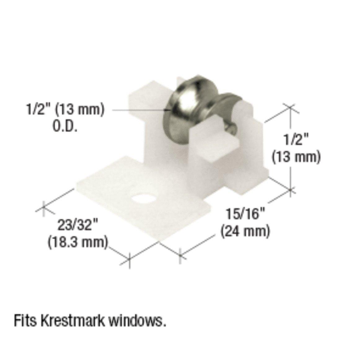 Krestmark Windows Reviews >> Sliding Window Roller With 1 2 Steel Wheel For Krestmark Windows