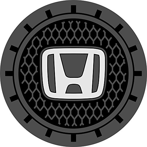 Auto sport 2.75 Inch Diameter Oval Tough Car Logo Vehicle Travel Auto Cup Holder Insert Coaster Can 2 Pcs Pack (Honda)