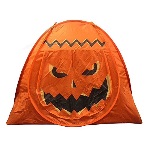 KssFire Pumpkin Tent Children Tent Kids Play House Tent Easy Set Up Halloween Party Picnics Tent for Indoor/Outdoor (Halloween Outdoor Games)