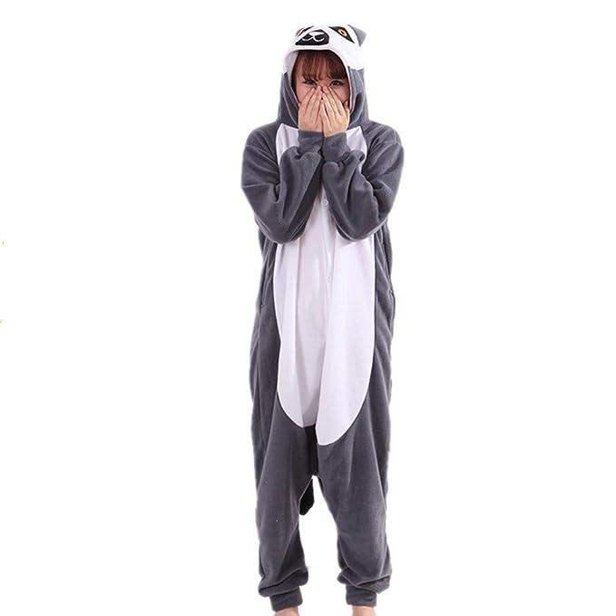 BOMOVO Damas para mujer con capucha Onesie todo en pijama mono una ropa de dormir pijamas