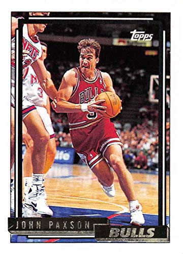 1992-93 Topps Gold Basketball #24 John Paxson Chicago Bulls Official NBA Trading Card
