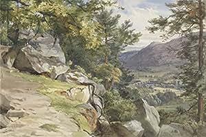 View of Craig de y de establos, Dunkeld, Looking south, 1855(W/C and bodycolour on Paper) (282789), Alu-Dibond, 90 x 60 cm