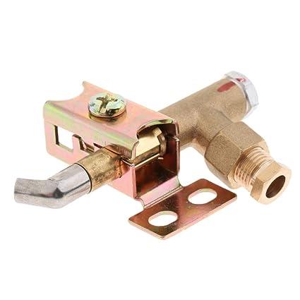 Sharplace Válvula Control Quemador Estufa Horno Gas LH Pistón Accesorio de Arranque