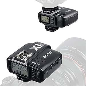 Godox X1-C 2.4GHz Wireless Hot Shoe Flash Trigger Kit Transmitter Receiver for Canon 32 Channels Speedlite Remote Control TTL 1/8000s HSS (set: 1 Transmitter + 1 Receiver)