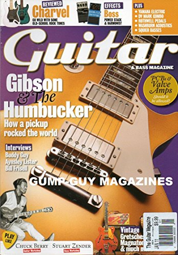 Eric Pedal Clapton (Guitar & Bass Magazine UK January 2011 CHUCK BERRY GUITAR WORKSHOP Gibson & The Humbucker: How A Pickup Rocked The World)