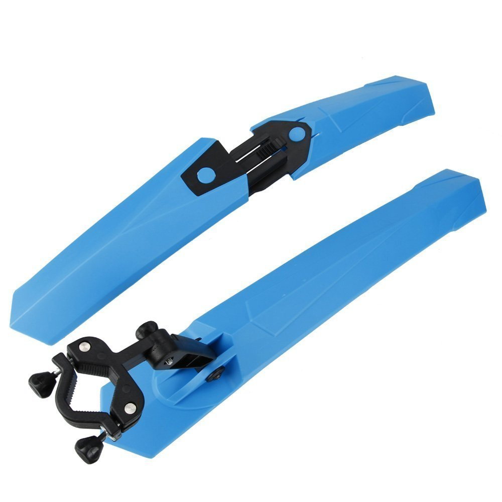 Cycling Front / Rear Mud Guards Mudguard Fenders Quick Release Set Blue
