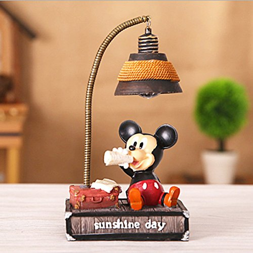 (YOURNELO Cute Animals Cartoon Character Heroes Desk Ornaments Night Light Lamp for Gift (Mickey Mouse) )