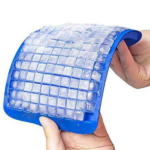 Mini Bandejas de cubitos de hielo, CoWalkers 160 Cubos mini Bandeja de cubitos de hielo congelados de silicona Molde de jalea...