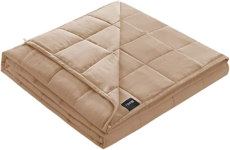 "ZonLi Cooling Toddler Weighted Blanket(7 pounds, 41""x60"",Single Bed) Bamboo Fabric(Cool in Summer) with Glass Beads"