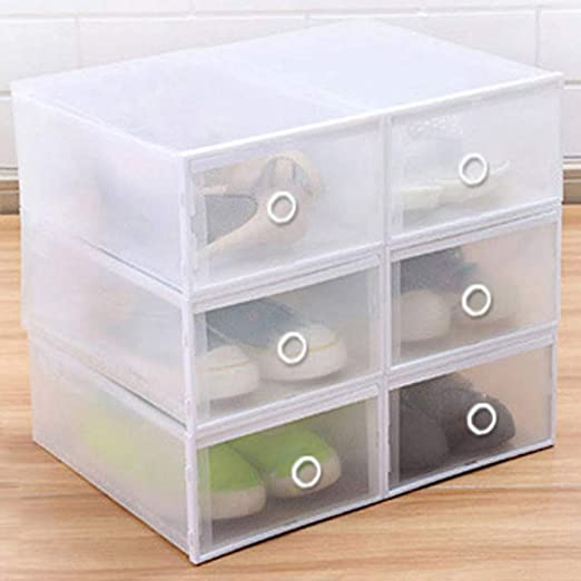 XZDXR Caja De Almacenamiento De Zapatos, 6 Cajas De Plástico ...