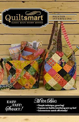 Midi Bag Fun Pack - Pattern and Printed Interfacing by Quiltsmart (Bag Quilted Patterns)