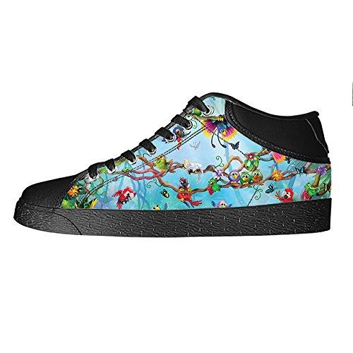 Da Alto Scarpe Delle Uccello Ginnastica Foresta Custom Tetto Lacci E I Shoes Canvas Women's ONw0ynvm8