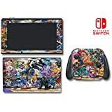 Super Smash Bros Ultimate Mario Zelda Sonic Video Game Vinyl Decal Skin Sticker Cover for Nintendo Switch Console System