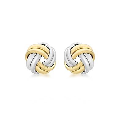 Carissima Gold Women's 9 ct Yellow Gold Mini Rose Stud Earrings GkyYJhu