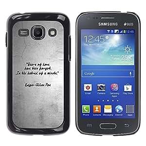 TopCaseStore / la caja del caucho duro de la cubierta de protección de la piel - Quote Love Heart Gray Grey Black White - Samsung Galaxy Ace 3 GT-S7270 GT-S7275 GT-S7272