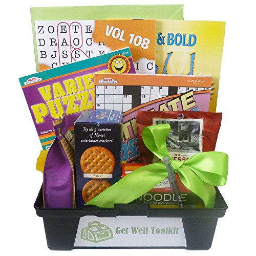 Price comparison product image Gifts Fulfilled Get Well Toolkit of Puzzle Books with Soup and Crackers