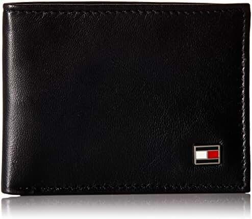 Tommy Hilfiger Men's Genuine Leather Oxford Slimfold Wallet