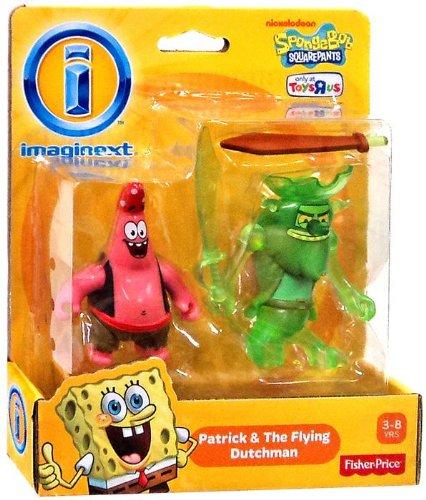 Imaginext, SpongeBob Squarepants, Patrick and the Flying Dutchman Exclusive Action Figures
