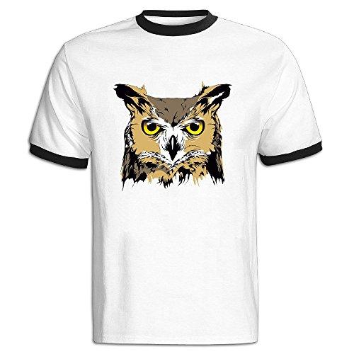 [Halloween Owl Color Blocking Short Tshirt T Shirts Leisure Adult] (Halloween Animatronics Sale)