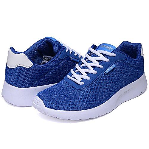 Odema Herren Sport Running Schuhe Breathable Anti-Rutsch Athletic Freizeit Walking Sneakers Dunkelblau