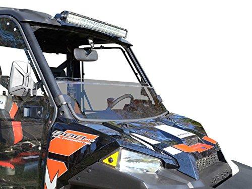 Half Windshield - SuperATV Heavy Duty Dark Tint Half Windshield for Polaris Ranger Fullsize XP 570/900/1000/Crew (See Fitment For Compatible Years) - Installs in 5 Minutes!