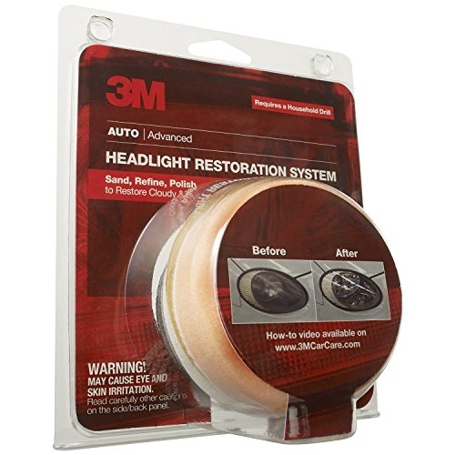 3M 39008 Headlight Lens Restoration System Auto Head Cleaner