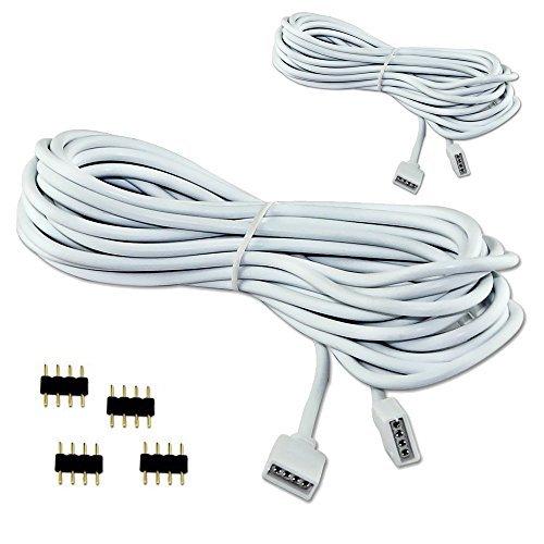 VIPMOON 2 Pack C/âble de rallonge 3M 9.9ft Connecter la fiche femelle /à la bande LED