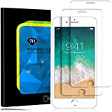 Elinkee iPhone 8 Plus/7 Plus Screen Protector, [2 Pack] 9H Hardness Full Coverage High Definition Bubble Free Anti-Scratch Tempered Glass Screen Protector for Apple iPhone 8 Plus 7 Plus