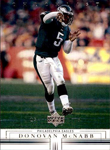 2001 Upper Deck Checklist - Donovan McNabb Philadelphia Eagles Syracuse Orangemen 2001 Upper Deck Unmarked Checklist #179 NFL Football Card