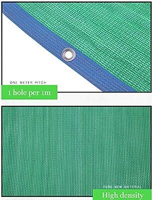 QFFL Malla Sombreo con Ojales, Tela de Sombrilla para Tumbona de Jardín Al Aire Libre, Pérgola, Borde Y Refuerzo de 4 Esquinas, Tono de Sombra 85% 24 Tamaños Disponibles, Verde (Size :