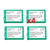 4 Fenzer Rechargeable Cordless Phone Batteries for AT&T 1231 2231 2419 2420 e1215 e1225 Cordless Telephone Battery Replacement Packs