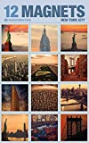 fridge magnet new york city - New York Magnets for Refrigerator - Set of 12 in Elegant Packaging. Style 12S-3. Made in USA