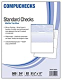 Software : 500 Blank Check Stock - Check on Top - Blue Marble