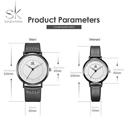 SINOBI Dress Wrist Watch Set Casual Classic Stainless Steel Quartz Wrist Business Analog Watch for Couple by SINOBI (Image #1)