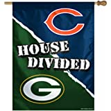 """NFL Green Bay Packers/Chicago Bears 27""""x37"""" House Divided Vertical Flag"""