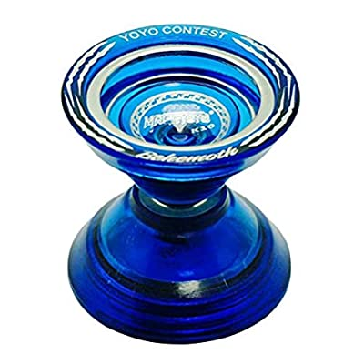MagicYo MAGICYOYO K10 Behemoth Yo-Yo - Polycarbonate with Metal Ring - Unresponsive YoYo - Super Wide! Super Fun! (Blue): Toys & Games