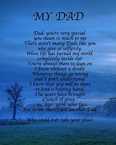 Personalised My Dad Poem Fathers Birthday Christmas Anniv...