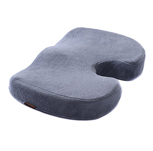 Windsor Design Kitchen Stool (Cushion Seat Pillow Foam Memory Support Coccyx Orthopedic Office Chair Pain Relief)