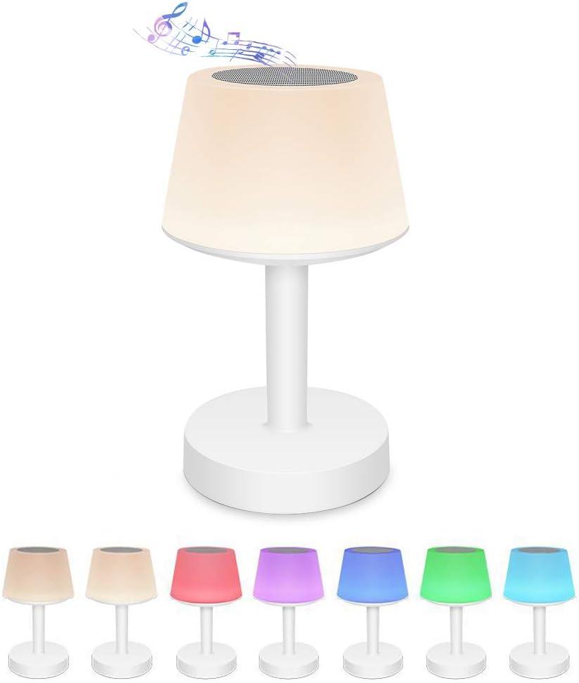 Veilleuse et r/éveil avec haut-parleur Bluetooth lampe de chevet /à capteur tactile intelligent