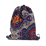 LABANCA Boho Printing Sackpack Drawstring Backpack Casual Daypack Leisure Satchel